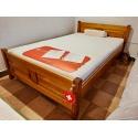 Łóżko LK291 Drewmax dębowe